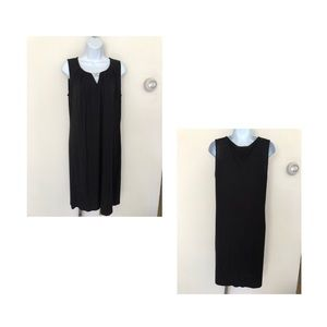 NWT! DANA BUCHMAN BLACK SLEEVELESS DRESS
